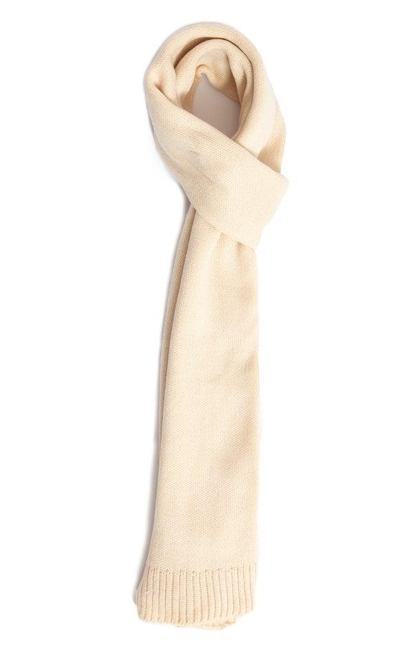 Knit Ribbed Scarf Cream