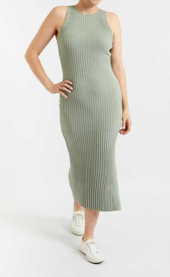 Knitwear Ribbed High Neck Dress