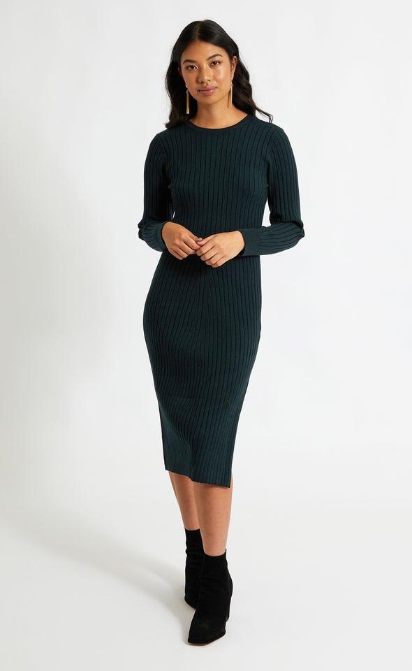 Knitwear Tie Back LS Dress