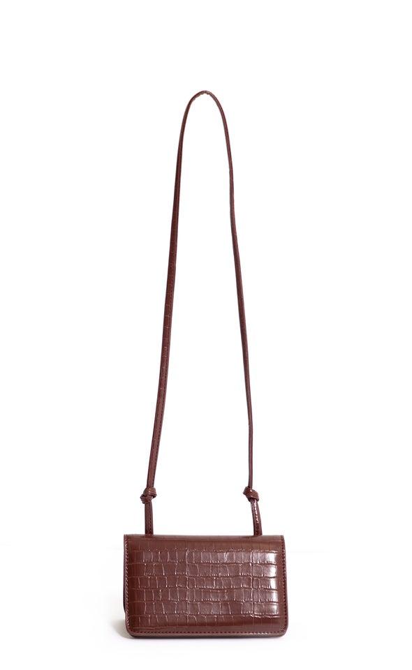 Knot Strap Handbag Brown