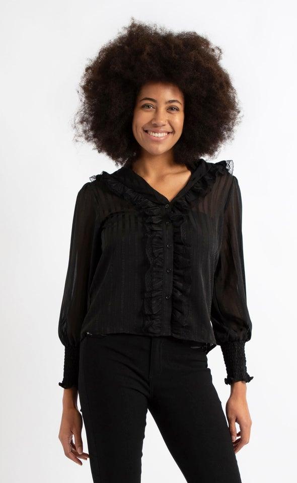 Lace Ruffle Shirt