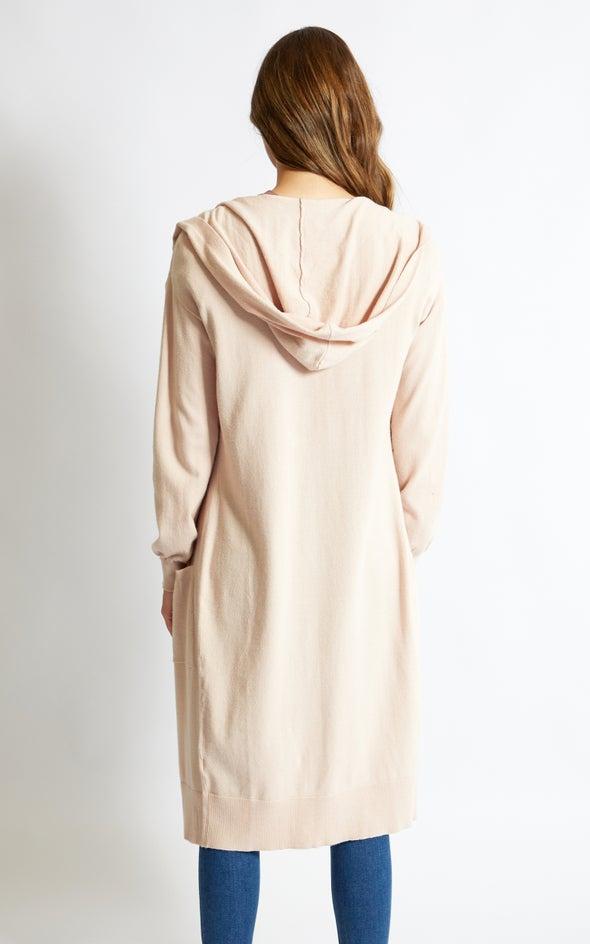 Longline Hooded Cardi Blush