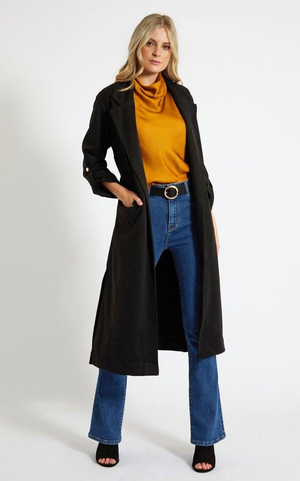 Longline Jacket Black