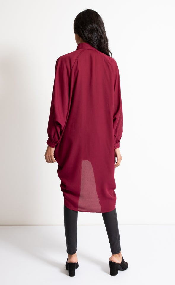 Longline Shirt Maroon
