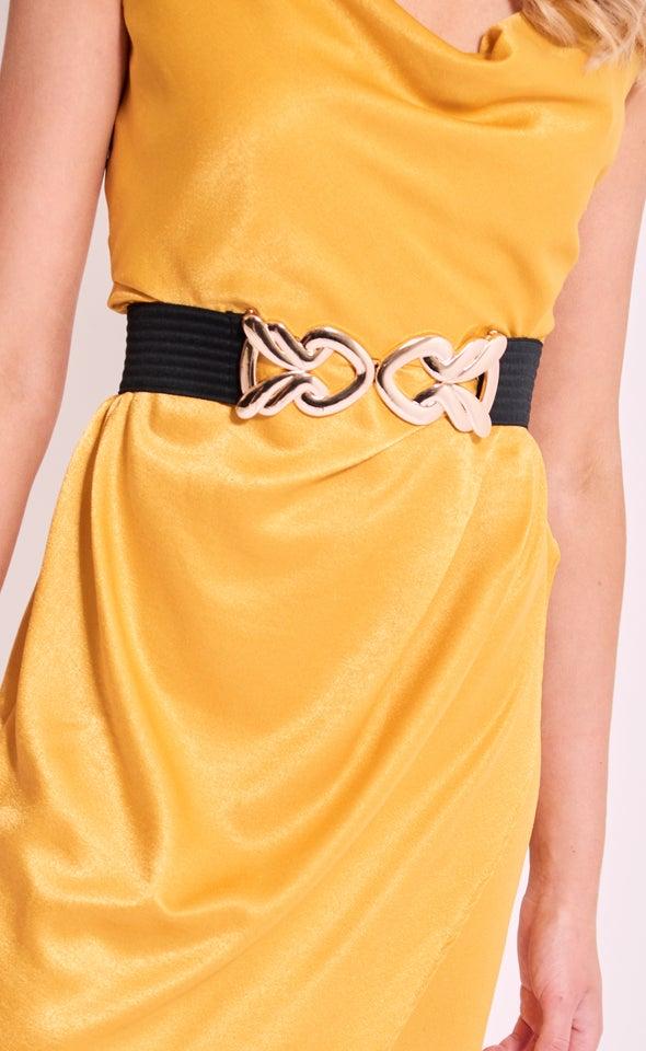 Metal Clasp Elastic Belt