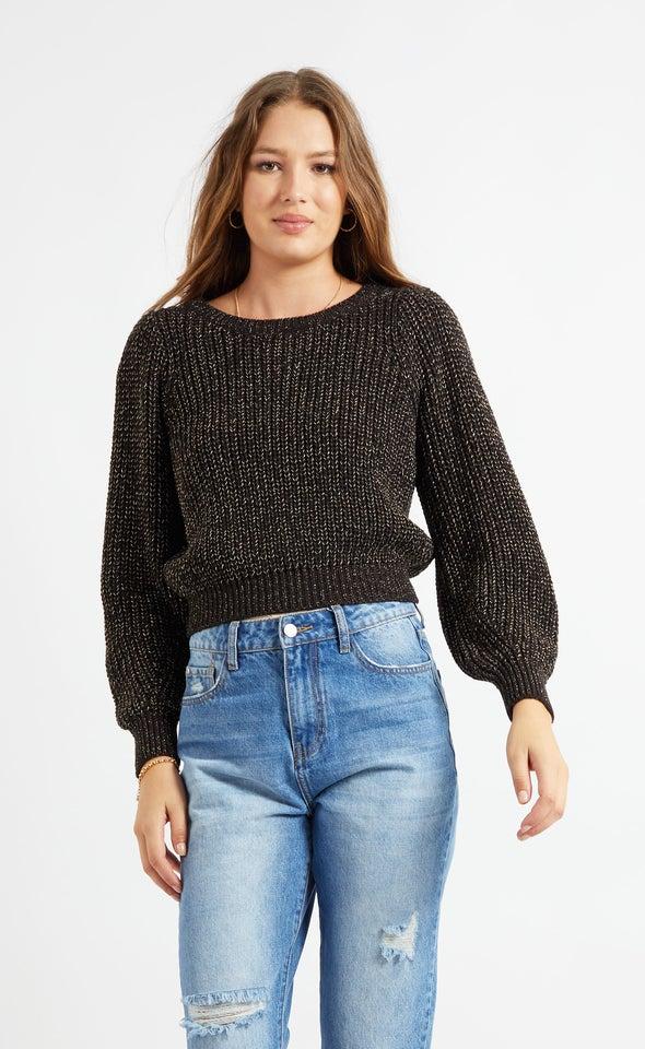 Metallic Thread Sweater
