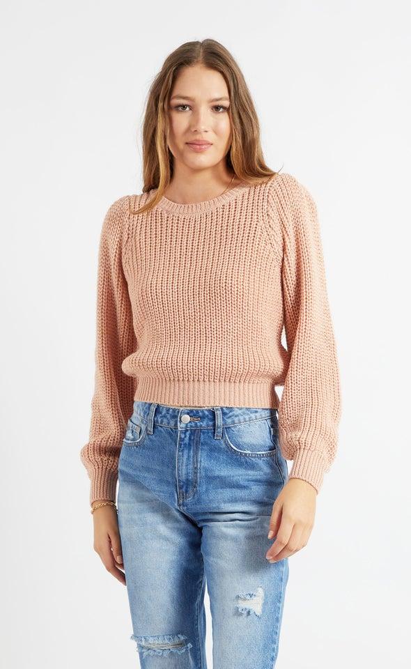 Metallic Thread Sweater Blush