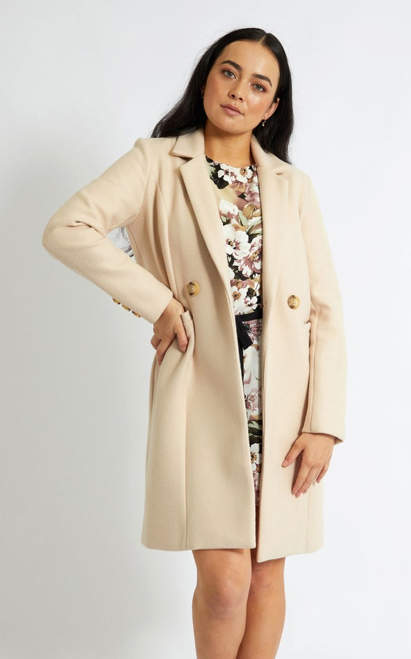 Mid Length Tailored Coat Blush