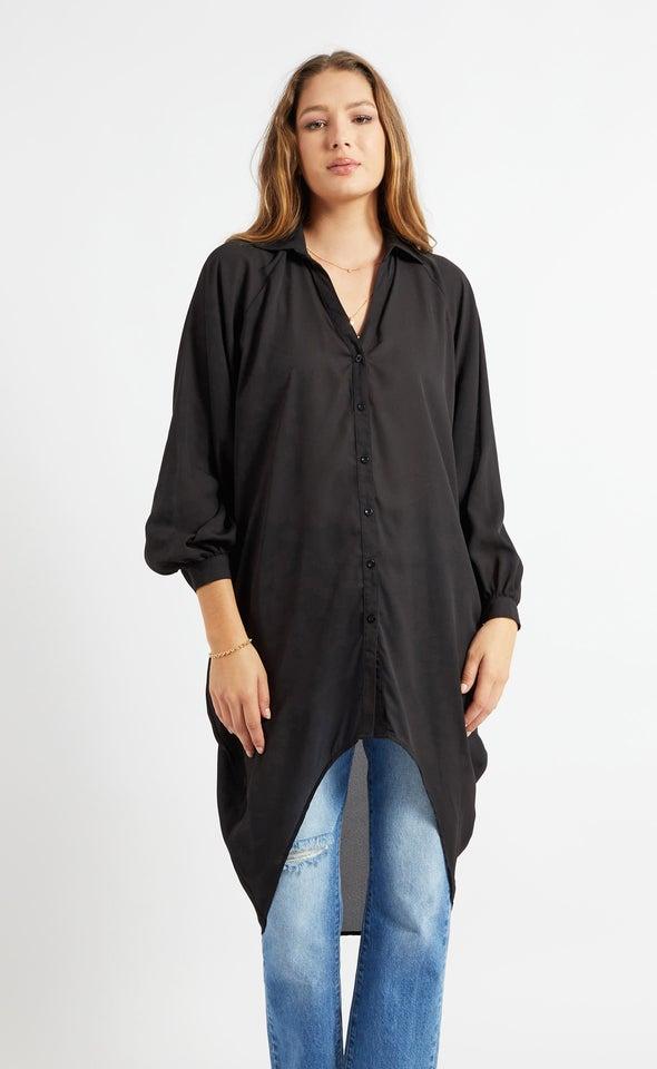 New Longline Shirt Black