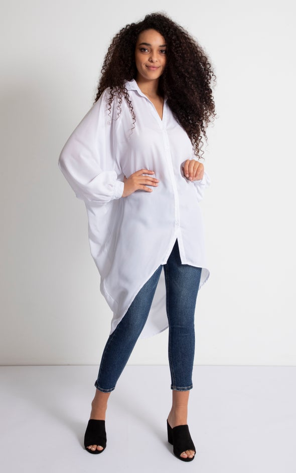 New Longline Shirt White
