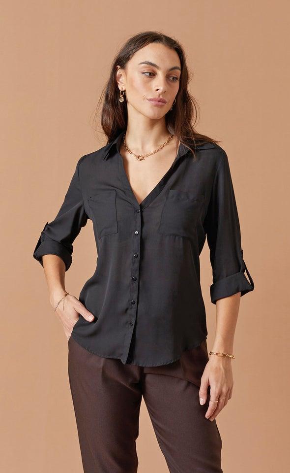New Pocket Shirt Black