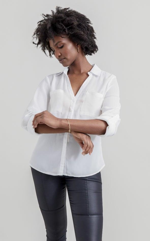 New Pocket Shirt White