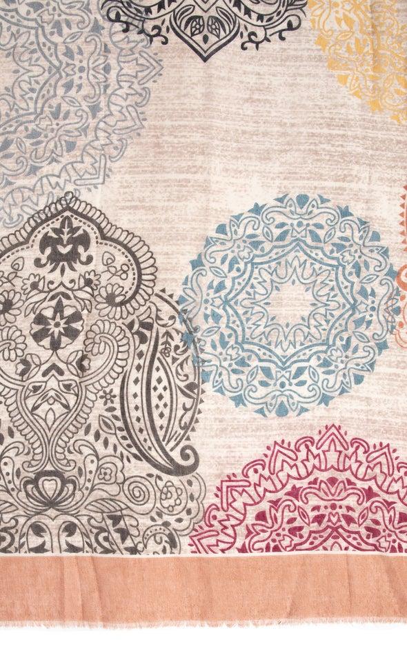 Paisley Print Scarf Blush