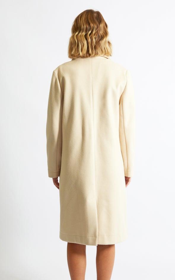 Pastel Long Coat Cream