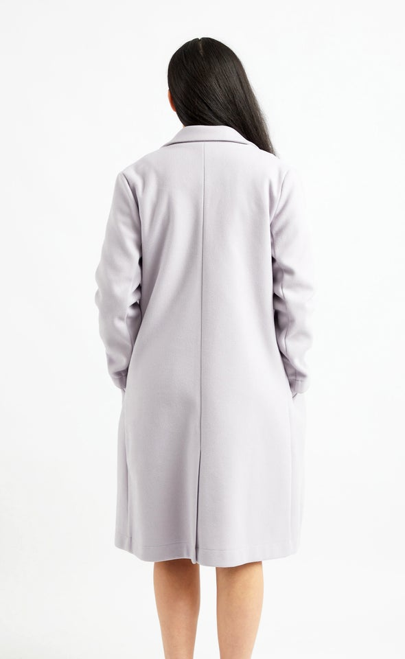 Pastel Long Coat Lilac