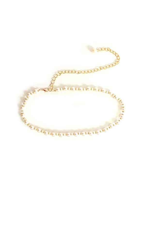 Pearl Belt Gold/cream