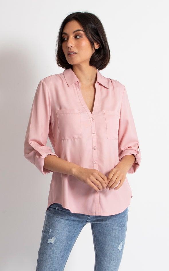 Pleat Pocket Shirt Dusky