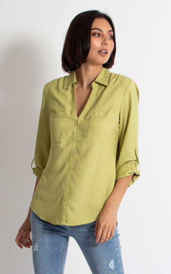 Pleat Pocket Shirt Pistachio