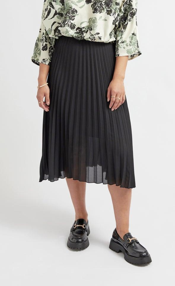 Pleated CDC Skirt Black