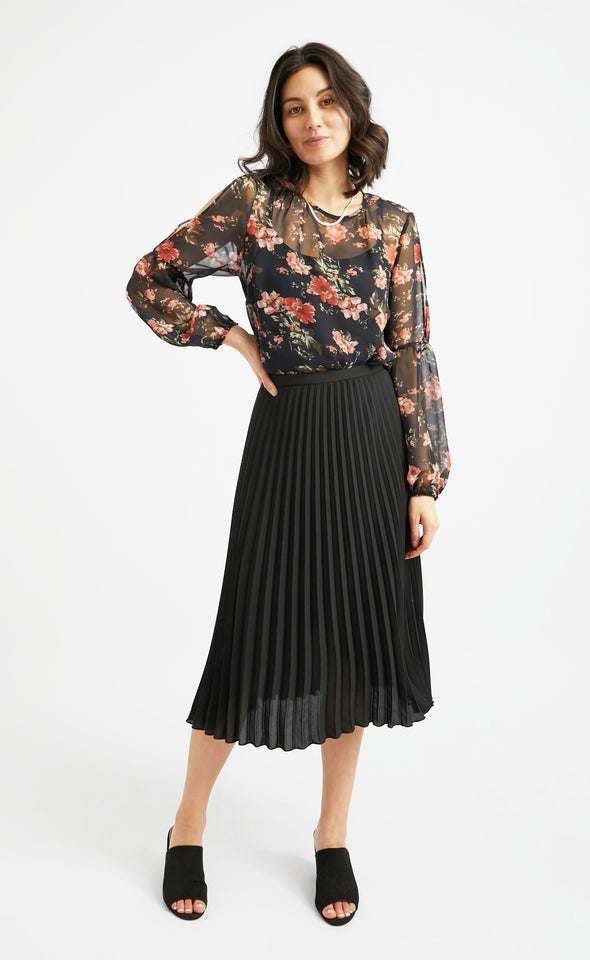 Pleated CDC Skirt