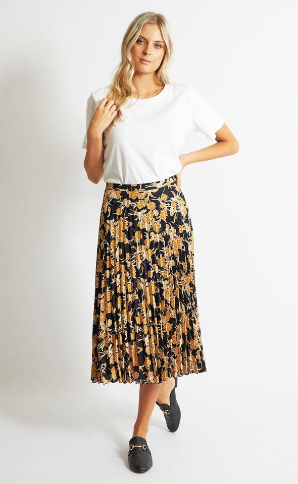 Printed CDC Pleat Skirt