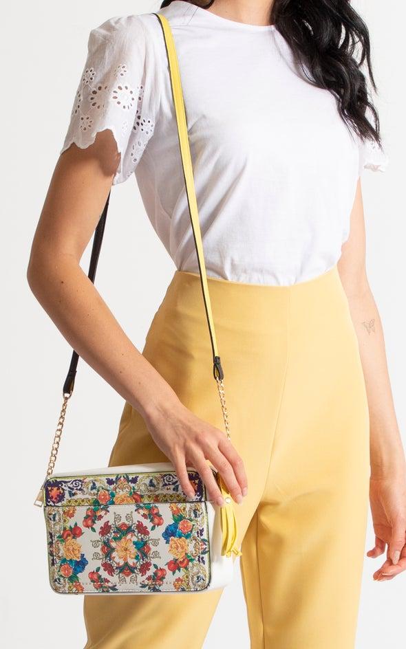 Printed Cross Body Bag Multi