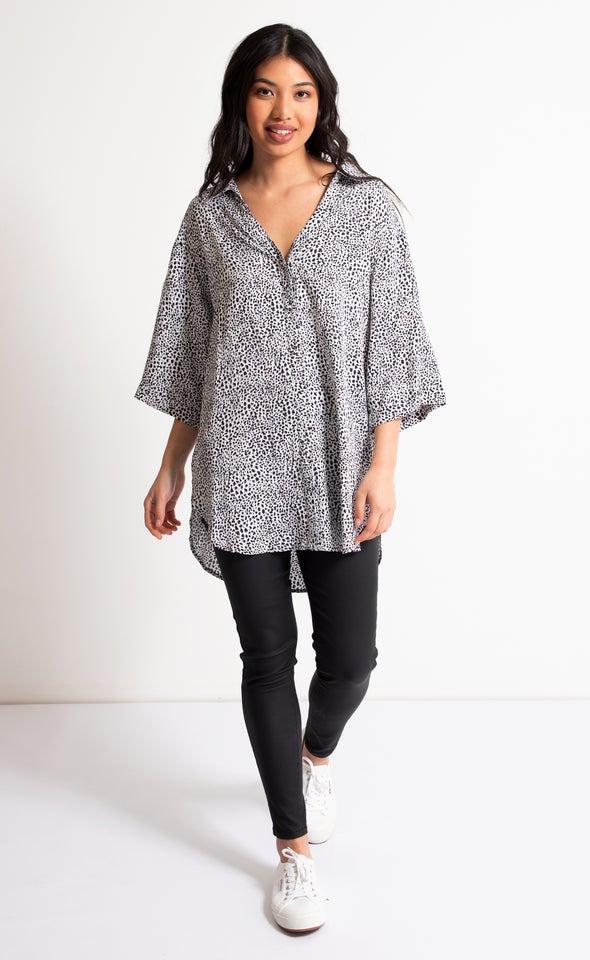 Printed Longline Shirt