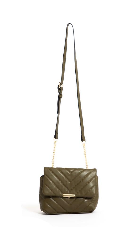 Quilted Handbag Khaki