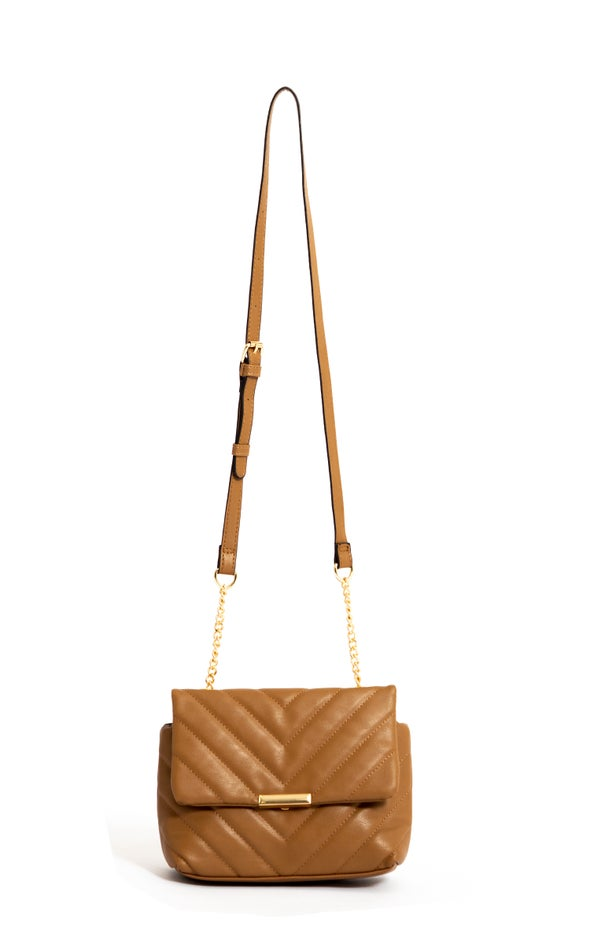 Quilted Handbag Tan