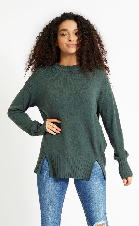 Round Neck Longline Sweater