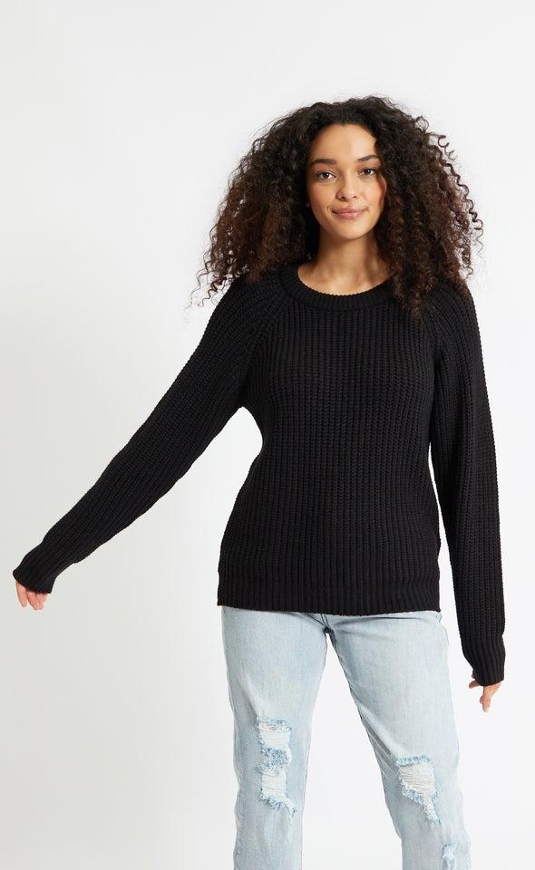 Round Neck Sweater Black