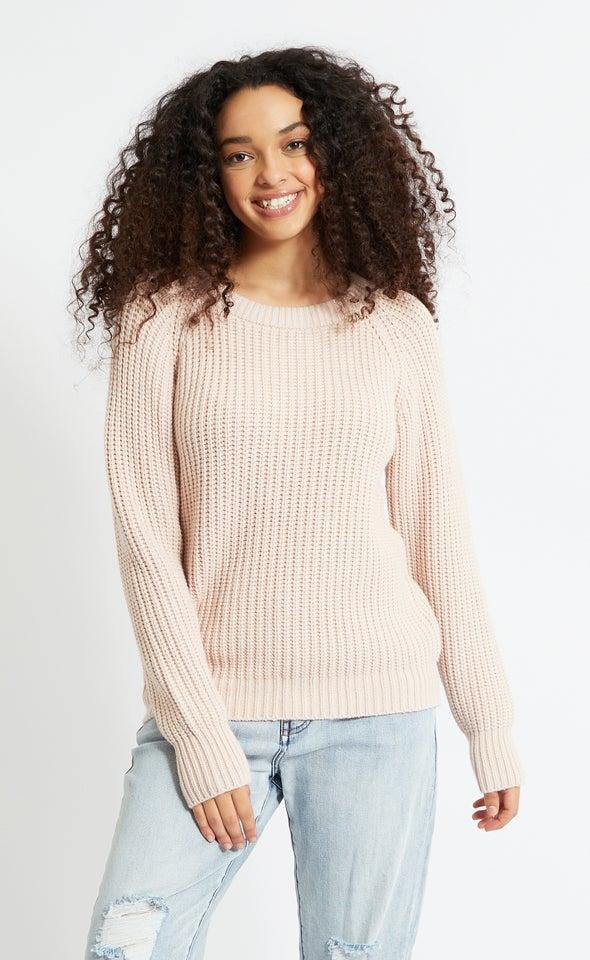 Round Neck Sweater Blush