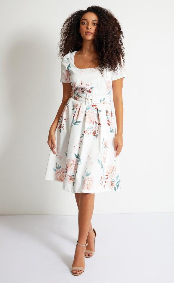 Sateen Short Sleeve 50's Dress