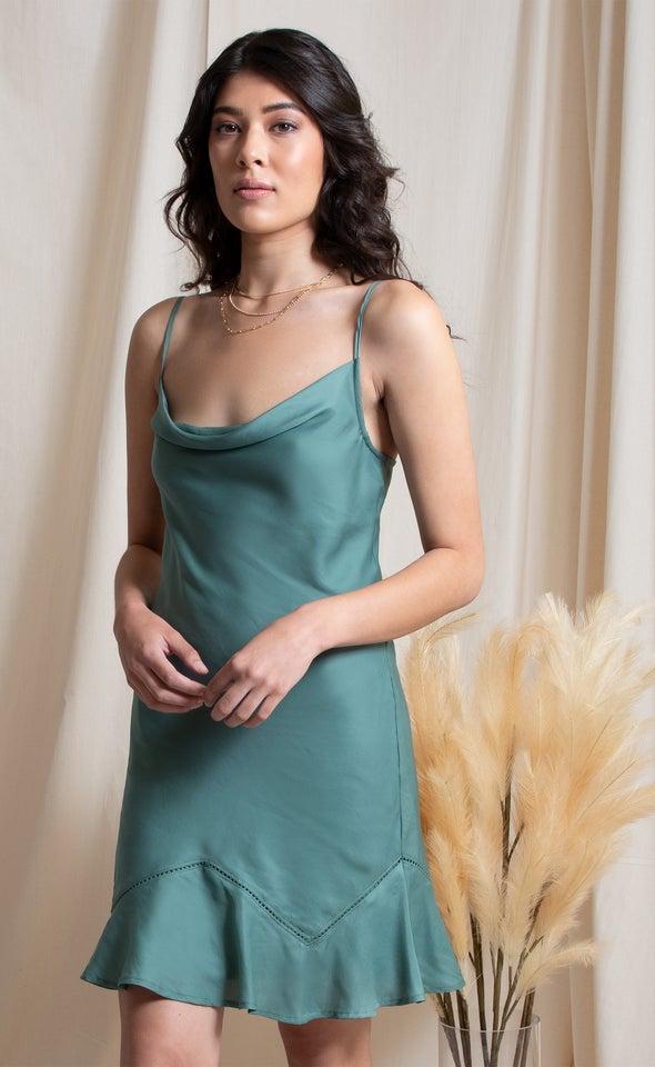 Satin Bias Mini Slip Dress