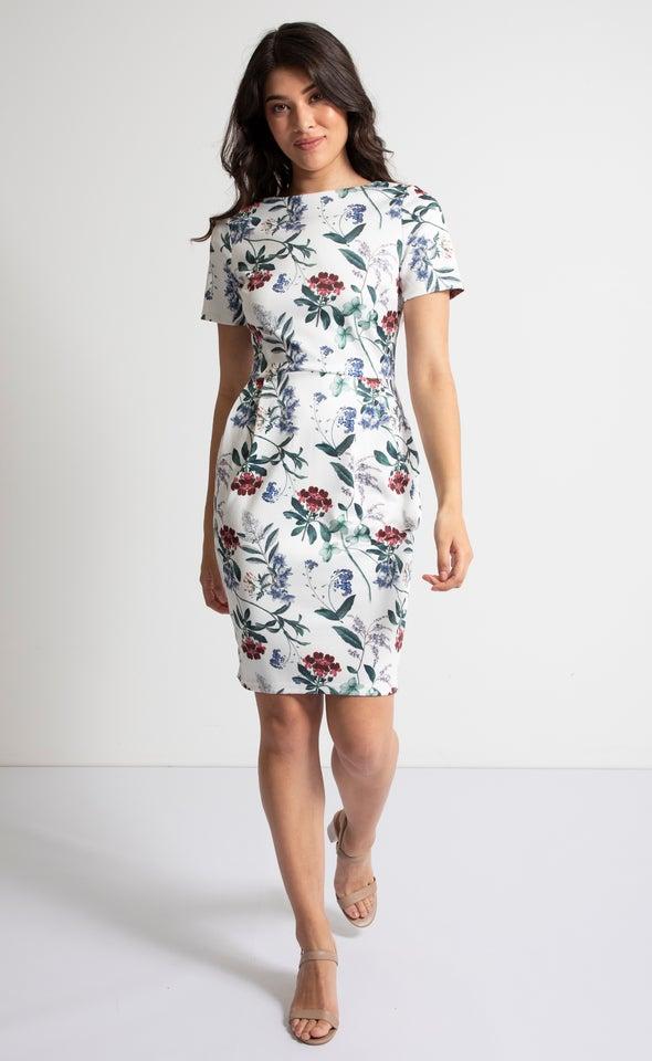 Scuba Floral T-Shirt Dress