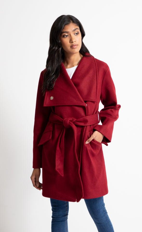 Self Tie Wrap Coat