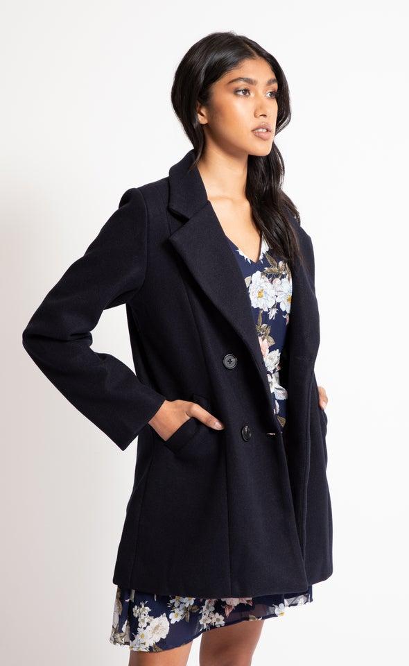 Short Tailored Coat Ink