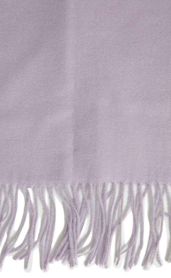 Simple Winter Scarf Lilac