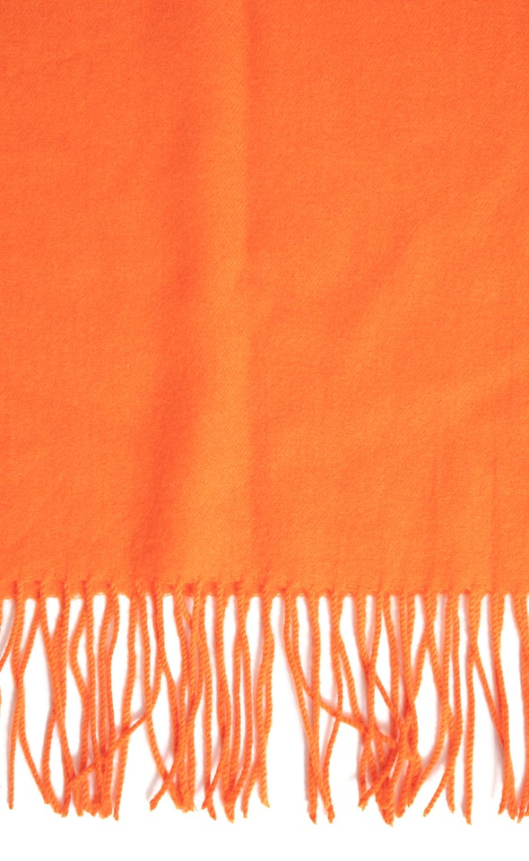 Simple Winter Scarf Orange