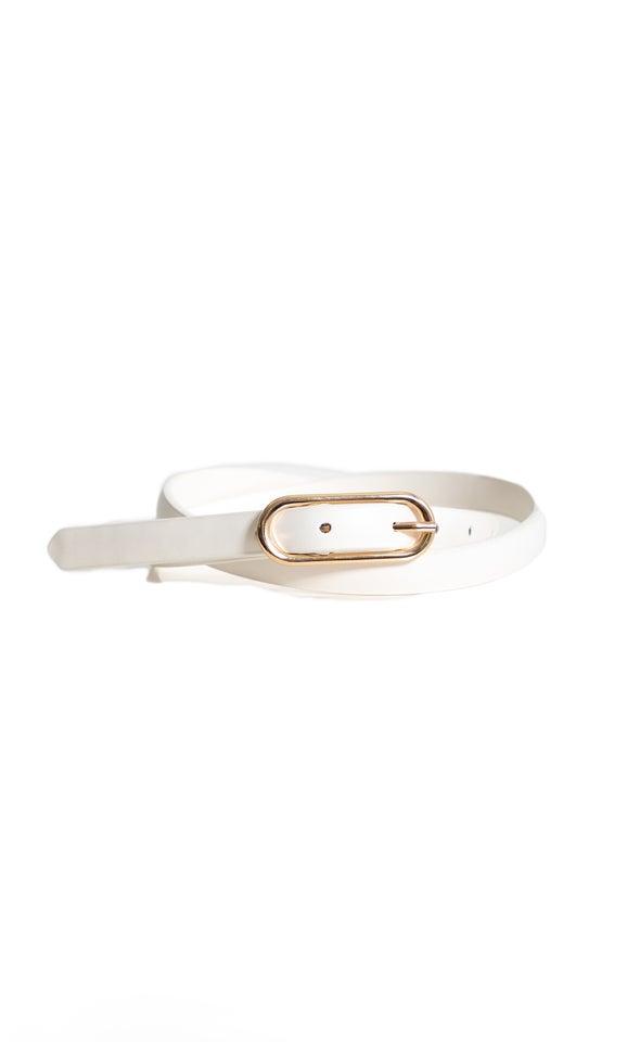 Skinny Jean Belt Gold/white