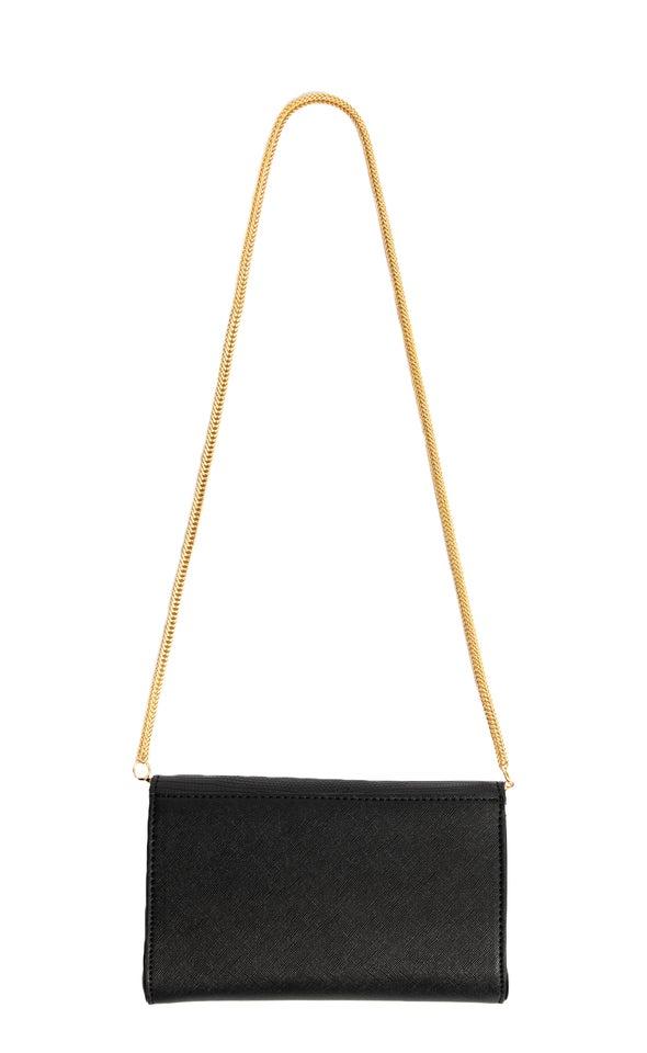 Slinky Strap Clutch Black