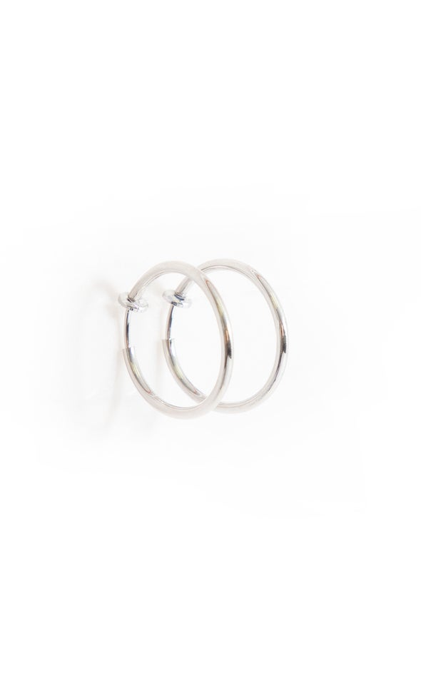 Small Clip on Hoops