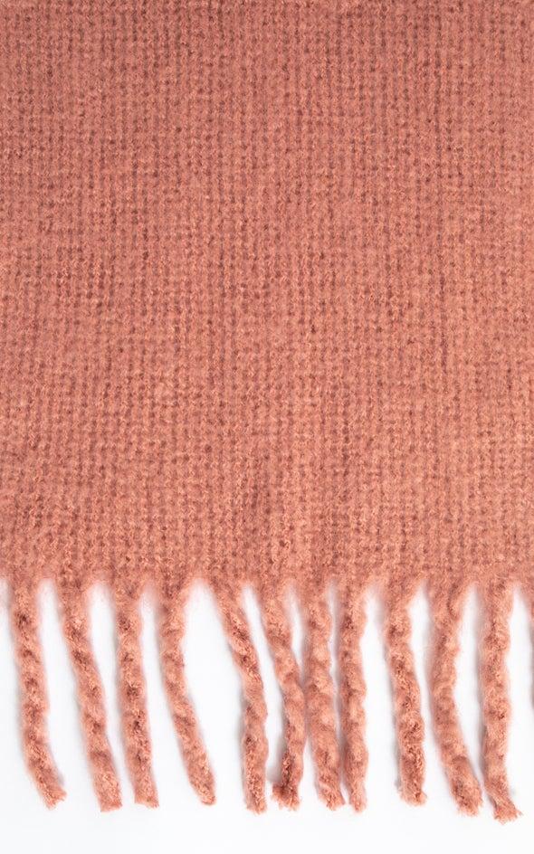 Soft Tassel Edge Scarf Blush