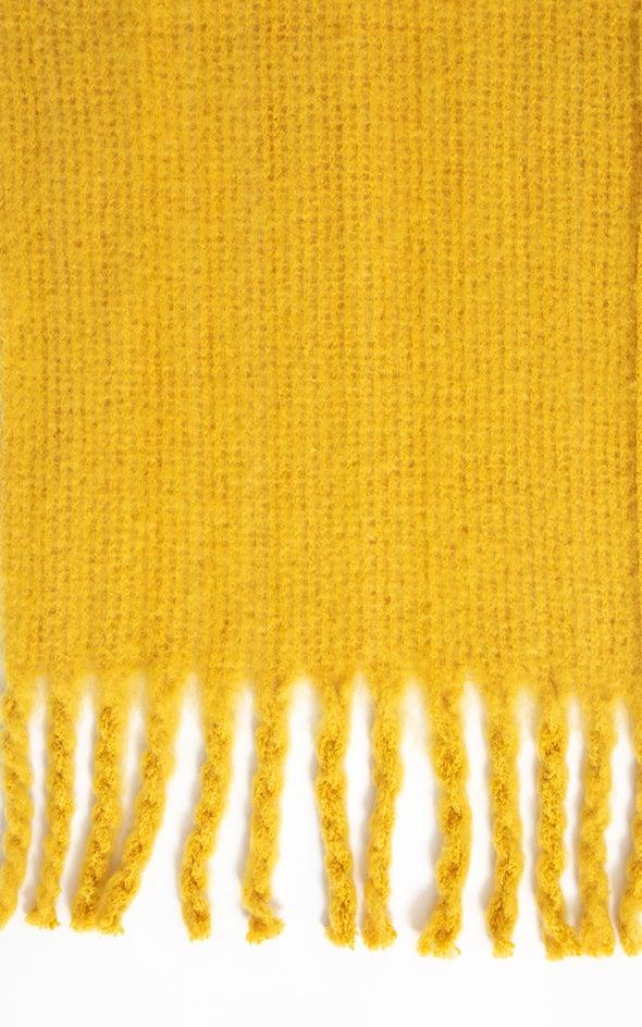 Soft Tassel Edge Scarf Mustard