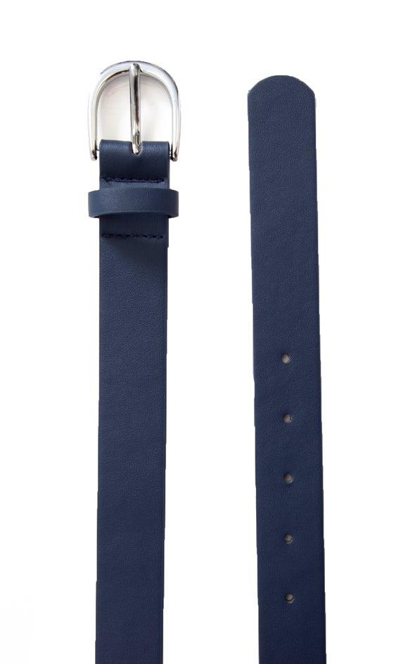 Standard Jean Belt Silver/navy