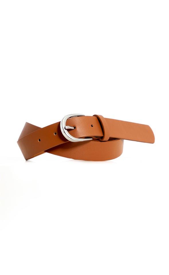 Standard Jean Belt Silver/tan