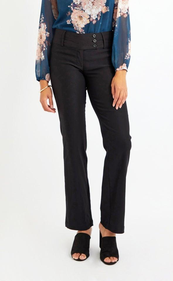 Straight Leg Beng Pant Black