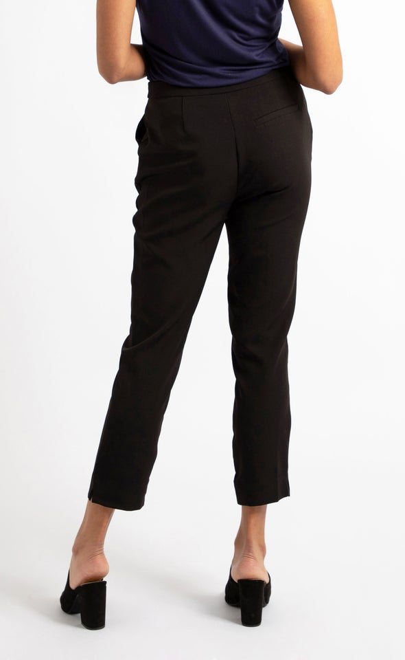 Straight Leg Suiting Pants Black