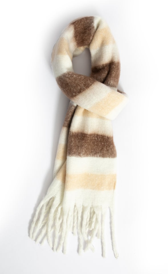 Striped Woolly Scarf