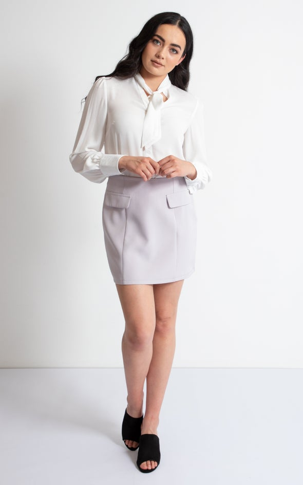 Suiting Mini Skirt Lilac